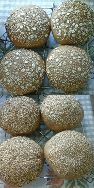 Pão de Hamburguer Integral Vegano da Ateliê na Cozinha
