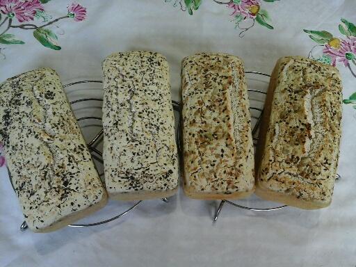 Pão sem gluten da Ateliê na Cozinha - Linhaça e de Chia